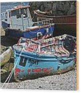 Boat 0003 Wood Print