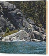 Boat A Rockin Wood Print