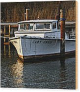 Boat At Rest Wood Print