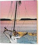 Boat Close Wood Print