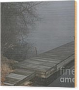 Boat Dock To No Where Wood Print