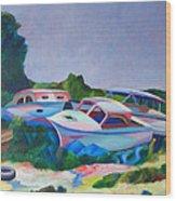 Boat Dreams Wood Print