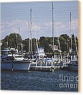 Boat Harbor In Dunkirk New York Wood Print