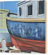 Boat Hull Wood Print
