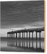 Boat In Clouds Wood Print by David Mcchesney