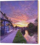 Boat Inn Sunrise 1.0 Wood Print