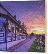 Boat Inn Sunrise 2.0 Wood Print