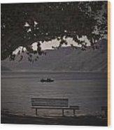 boat on the Lago Maggiore Wood Print