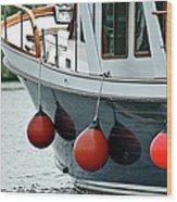 Boat Time Wood Print