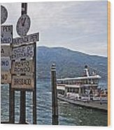 Boat Trip On Lake Maggiore Wood Print