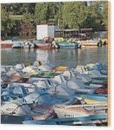 Boating Lake Wood Print