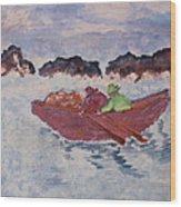Boatmen Wood Print