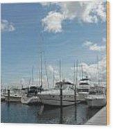 Boats 114 Wood Print