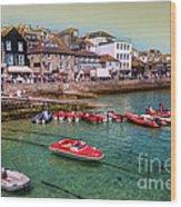 Boats At St Ives  Wood Print