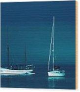 Boats Near Samsoe Island Denmark  Wood Print
