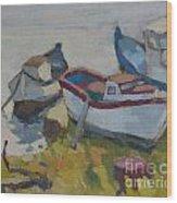 Boats Wood Print