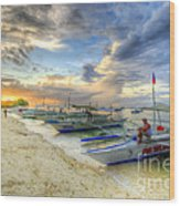 Boats Of Panglao Island Wood Print