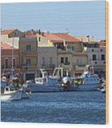 boats of Sant Antioco Wood Print