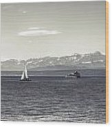 boats on Lake Constance Wood Print
