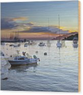Boats On The Water Wood Print