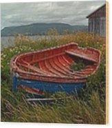 Boats  Shore In Time Wood Print
