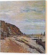 Boatyard Near Honfleur Wood Print by Claude Monet