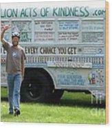 Bob And The Kindness Bus Wood Print