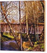 Bob White Covered Bridge Wood Print
