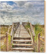 Boca Grande Boardwalk Wood Print