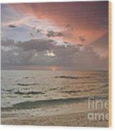 Boca Grande Florida Sunset Wood Print