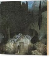 Bocklin's Tomb Wood Print