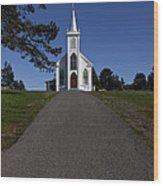 Bodega Church Wood Print by Garry Gay