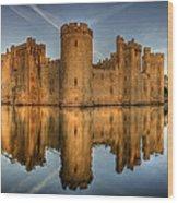Bodiam Castle Wood Print by Mark Leader