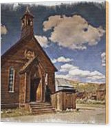 Bodie Church - Impressions Wood Print