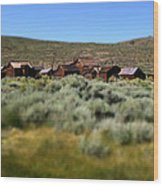 Bodie Ghost Town Landscape Wood Print