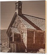 Bodie State Historic Park California Church Wood Print