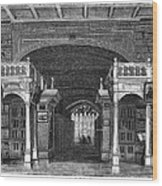 Bodleian Library, 19th Century Artwork Wood Print