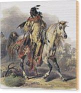 Bodmer: Blackfoot Horseman Wood Print