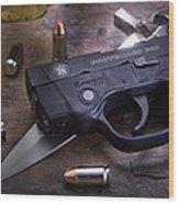 Bodyguard Concealed Carry Wood Print by Tom Mc Nemar