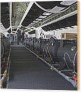 Boeing 747-8 Interior Wood Print