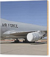 Boeing Yal-1a Airborne Laser Testbed Davis-monthan Afb April 15 2012 Wood Print