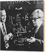 Bogolyubov (right), Soviet Physicist Wood Print by Ria Novosti
