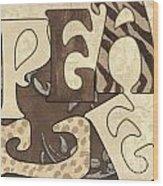 Bohemian Peace Wood Print by Debbie DeWitt