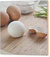 Boiled Eggs Wood Print