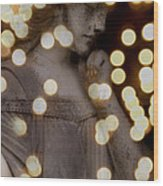 Bokeh Angel Wood Print