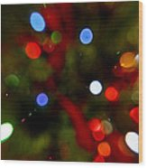 Bokeh Of Lights Wood Print