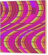 Bold Swirl  Wood Print by Louisa Knight