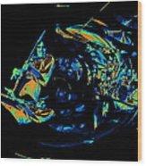 Tb Cosmic Swirl Wood Print