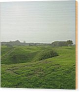 Bomb Craters Pointe Du Hoc Wood Print