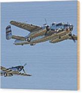 Bomber Escort Wood Print